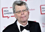 """FILE - In this May 22, 2018, file photo, PEN literary service award recipient Stephen King attends the 2018 PEN Literary Gala in New York. Readers may know him best for """"Carrie,"""" """"The Shining"""" and other bestsellers commonly identified as """"horror,"""" but King has long had an affinity for other kinds of narratives, from science fiction and prison drama to the Boston Red Sox. (Photo by Evan Agostini/Invision/AP, File)"""