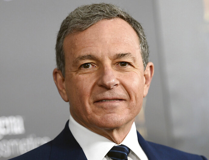 FILE - In this Monday, March 13, 2017, file photo, Walt Disney Co. CEO Robert Iger attends a special screening of Disney's