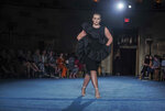 The latest fashion from Christian Siriano is modeled during New York's Fashion Week, Tuesday, Sept. 7, 2021. (AP Photo/Bebeto Matthews)