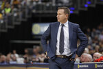 Washington Wizards coach Scott Brooks watches during the second half of the team's NBA basketball game against the Indiana Pacers, Wednesday, Nov. 6, 2019, in Indianapolis. Indiana won 121-106. (AP Photo/Darron Cummings)