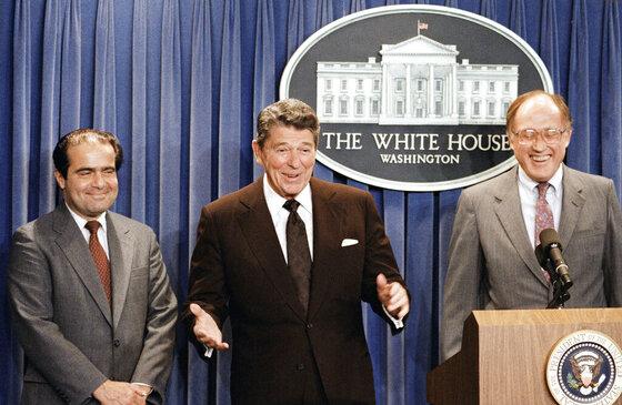 Antonin Scalia, Ronald Reagan, William Rehnquist