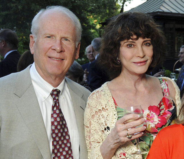 Robert and Dorothy Brockman attend an intimate al fresco dinner celebrating the Rice University groundbreaking of James Turrell's Rice University Skyspace project at the home of Phoebe and Bobby Tudor, Tuesday evening, May 17, 2011, in Houston. Federal prosecutors have charged Texas billionaire Robert Brockman in a $2 billion tax fraud scheme that they say is the largest such case against an American. (Dave Rossman/Houston Chronicle via AP)