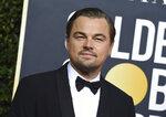 Leonardo DiCaprio arrives at the 77th annual Golden Globe Awards at the Beverly Hilton Hotel on Sunday, Jan. 5, 2020, in Beverly Hills, Calif. (Photo by Jordan Strauss/Invision/AP)