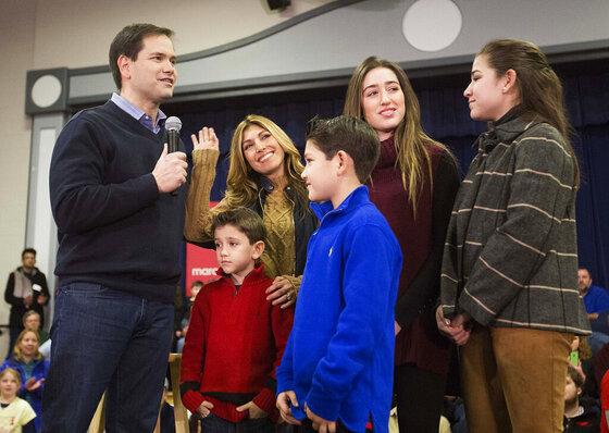 Marco Rubio, Jeanette Rubio, Dominic Rubio, Anthony Rubio, Amanda Rubio, Daniella Rubio