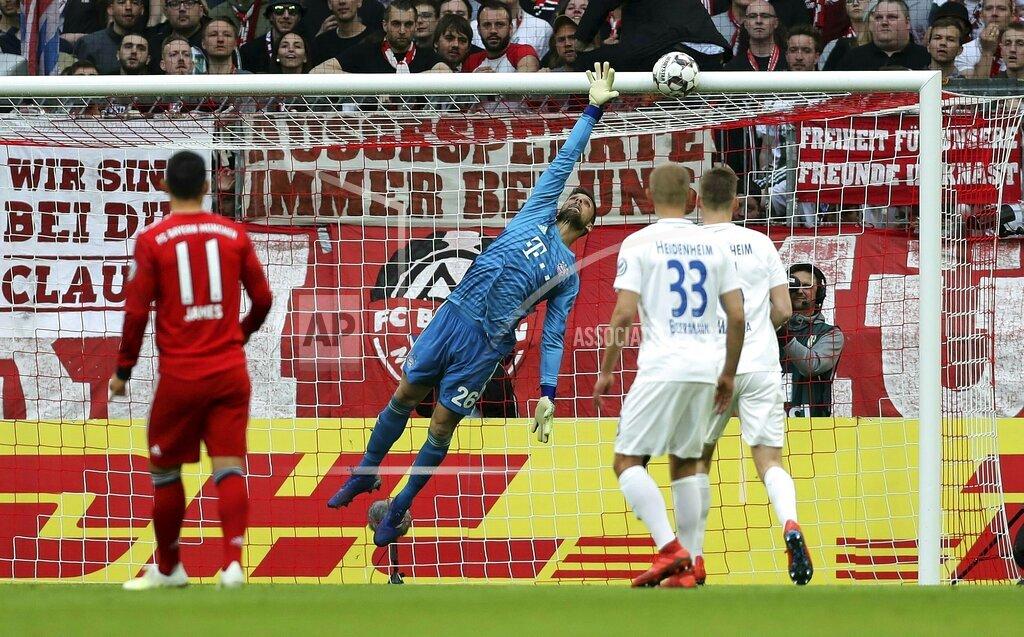 firo: 03.04.2019 Football, DFB Pokal, quarterfinals, season 2018/2019, FC Bayern Munich - FC Heidenheim