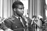 FILE - In this June 30, 1967, file photo, Maj. Robert H. Lawrence Jr., the first black astronaut in the U.S. space program, is introduced at a news conference in El Segundo, Calif. The documentary