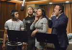 In this image released by Fox, Bryshere Gray, from left, Jussie Smollett, Taraji P. Henson and Terrence Howard appear in a scene from