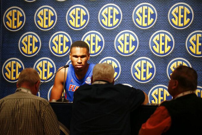 The Latest: Blackshear considers Florida 'hand-in-glove' fit