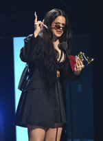 Rosalia accepts the award for album of the year for