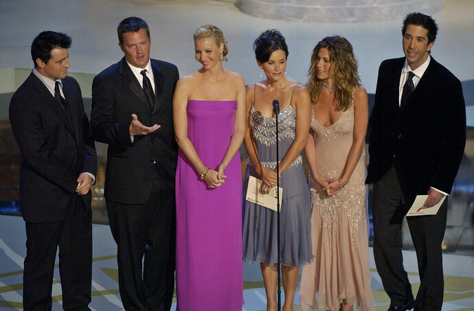 FILE - In this Sept. 22, 2002, file photo the cast of television's