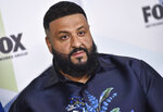 FILE - This May 14, 2018 file photo shows DJ Khaled at the Fox Networks Group 2018 programming presentation after party in New York. In the run-up to the Kids' Choice Awards, host DJ Khaled is feeling plenty of support _ from his son. The producer-DJ said his 2-year-old son, Asahd, gets excited just watching his dad in the ads promoting the show on Nickelodeon. (Photo by Evan Agostini/Invision/AP, File)
