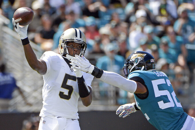 Saints quiet Minshew Mania, handle Jaguars 13-6