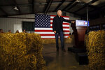 Democratic presidential candidate former Vice President Joe Biden speaks during a town hall meeting at the Jackson County Fairgrounds, Wednesday, Oct. 30, 2019, in Maquoketa, Iowa. (AP Photo/Charlie Neibergall)