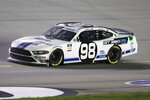 Chase Briscoe (98) works on the track a NASCAR Xfinity Series auto race Thursday, July 9, 2020, in Sparta, Ky. (AP Photo/Mark Humphrey)