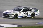 Chase Briscoe (98) works on the track a NASCAR Xfinity Series auto race Thursday, July 9, 2020, in Sparta, Ky. (AP Photo/Mark Humphrey)