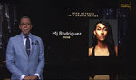 """This video grab provided by the Academy of Television Arts & Sciences shows Ron Cephas Jones as he announces Mj Rodriguez as a nominee for lead actress in a drama series for """"Pose"""" during the 73rd Emmy Awards Nominations Announcement on Tuesday, July 13, 2021. (Television Academy via AP)"""