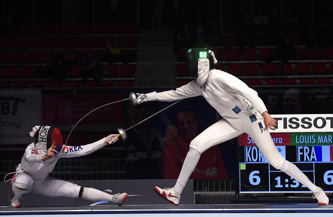 Olympic qualifying in fencing suspended indefinitely
