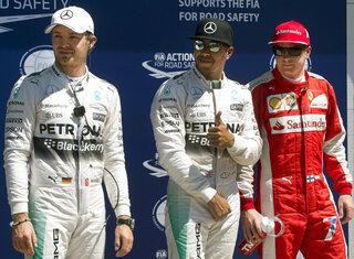 Lewis Hamilton, Nico Rosberg, Kimi Raikkonen