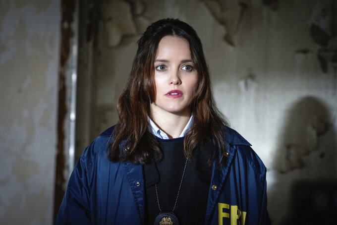 """This image released by CBS shows Rebecca Breeds in the title role, of """"Clarice"""" premiering Thursday, Feb. 11 on CBS. (Brooke Palmer/CBS via AP)"""