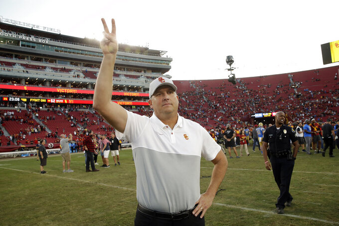 USC retains coach Clay Helton despite fan dissatisfaction