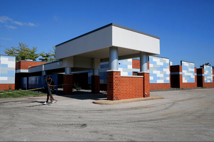FILE - This Oct. 2, 2019, photo shows the exterior of the new Planned Parenthood facility, in Fairview Heights, Ill. The clinic quietly constructed in southern Illinois to meet demand for abortion services by residents outside the state is close to opening. Planned Parenthood of the St. Louis Region and Southwest Missouri says Wednesday, Oct. 23 is the opening day for its Fairview Heights clinic. The 18,000-square-foot facility will provide surgical and medication abortions, family planning services, annual exams and HIV prevention. Planned Parenthood says Illinois can serve as a health care hub for the region. (Christian Gooden/St. Louis Post-Dispatch via AP, File)