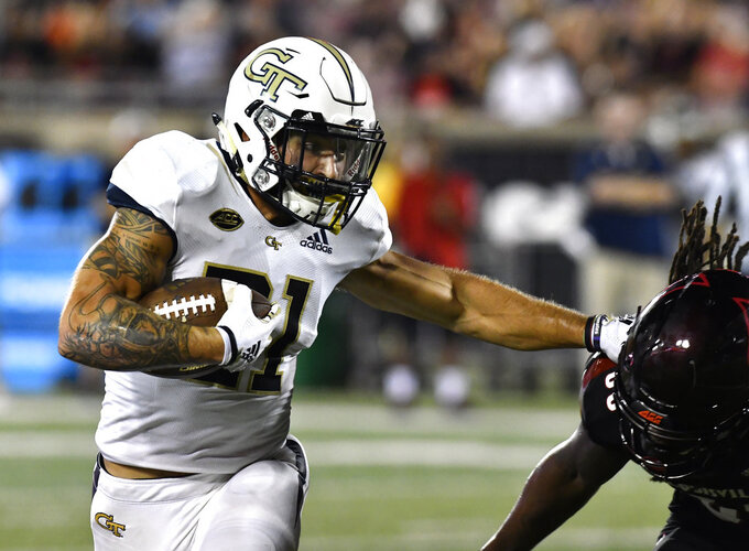Marshall, Georgia Tech run all over Louisville 66-31