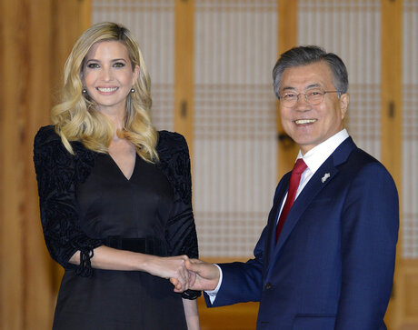 Ivanka Trump, Moon Jae-in
