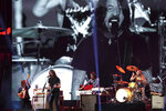 """The Foo Fighters perform at """"Vax Live: The Concert to Reunite the World"""" on Sunday, May 2, 2021, at SoFi Stadium in Inglewood, Calif. (Photo by Jordan Strauss/Invision/AP)"""