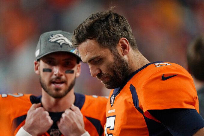 Broncos place injured QB Joe Flacco on IR