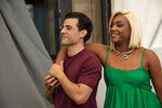 Oscar Isaac, left, and Tiffany Haddish pose for photographers at the photo call for the film 'The Card Counter' during the 78th edition of the Venice Film Festival in Venice, Italy, Thursday, Sep, 2, 2021. (Photo by Joel C Ryan/Invision/AP)