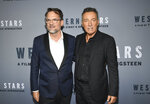 Co-directors Thom Zimny, left, and Bruce Springsteen pose together at the special screening of