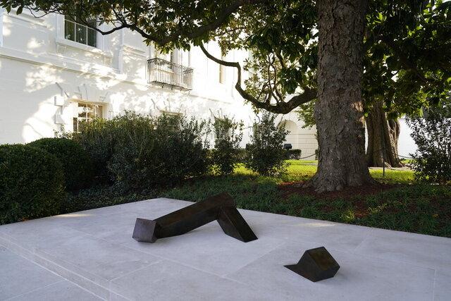 Japanese American sculptor Isamu Noguchi's piece, titled