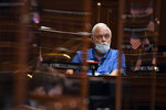 State Rep. Whit Betts, R-Bristol listens to the vaccination exemption discussion during session at the State Capitol, Monday, April 19, 2021. The Connecticut House of Representatives on Monday was expected to pass a contentious bill that would end the state's long-standing religious exemption from immunization requirements for schools. (AP Photo/Jessica Hill)