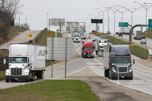Virus Outbreak Oklahoma Trucking