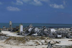A concrete factory lays shattered, destroyed by Hurricane Dorian in Marsh Harbor, Abaco Island, Bahamas, Saturday, Sept. 7, 2019.  Search and rescue teams were still trying to reach some Bahamian communities isolated by floodwaters and debris Saturday after Dorian struck the northern part of the archipelago last Sunday.  (AP Photo/Fernando Llano)