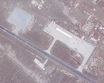 A Feb. 5, 2021, satellite photo from Planet Labs Inc. shows where canopies to cover aircraft used to be at an Emirati military base in Assab, Eritrea. The United Arab Emirates is dismantling parts of a military base it runs in the East African nation of Eritrea after it pulled back from the grinding war in nearby Yemen, satellite photos analyzed by The Associated Press show. (Planet Labs Inc. via AP)