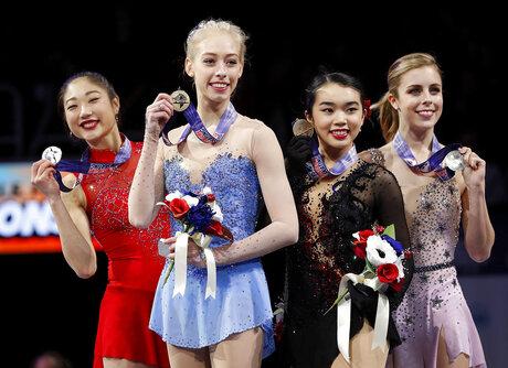 Bradie Tennell, Mirai Nagasu, Karen Chen, Ashley Wagner