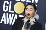 Awkwafina arrives at the 77th annual Golden Globe Awards at the Beverly Hilton Hotel on Sunday, Jan. 5, 2020, in Beverly Hills, Calif. (Photo by Jordan Strauss/Invision/AP)