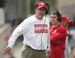Wisconsin head coach Paul Chryst walks the sidelines during the first half of an NCAA college football game against New Mexico Saturday, Sept. 8, 2018, in Madison, Wis. (AP Photo/Morry Gash)
