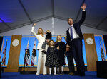 California Governor Gavin Newsom his family wife, Jennifer Siebel Newsom, waves after taking the oath office during his inauguration as 40th Governor of California, Monday, Jan. 7, 2019,Sacramento, Calif. (AP Photo/Rich Pedroncelli)