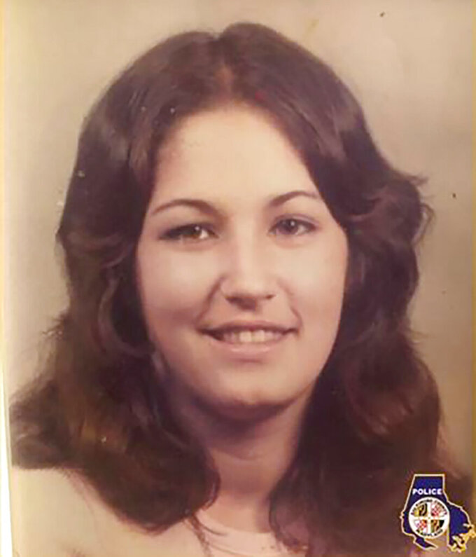 """This undated photo provided by the Baltimore County Police Department shows Margaret Fetterolf, of Alexandria, Va., who family members say went missing in 1975. Baltimore County Police said Wednesday, Sept. 15, 2021, that new DNA testing showed Fetterolf was the girl, known as """"Woodlawn Jane Doe,"""" who was found dumped near a cemetery almost 45 years ago. (Baltimore County Police Department via AP)"""