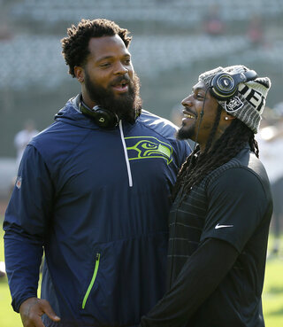 Michael Bennett, Marshawn Lynch