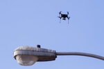 Testing on NASA's Unmanned Aircraft Systems Traffic Management project continues on the Bayfront on Thursday, Aug. 15, 2019, in Corpus Christi, Texas.(Rachel Denny Clow/Corpus Christi Caller-Times via AP)
