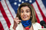 House Speaker Nancy Pelosi of Calif., speaks during news conference unveiling the Patient Protection and Affordable Care Enhancement Act on Capitol Hill in Washington on Wednesday, June 24, 2020. (AP Photo/Manuel Balce Ceneta)