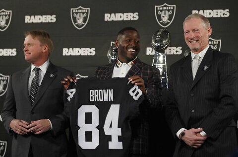 Antonio Brown, Jon Gruden, Mike Mayock