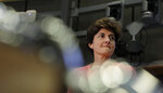 European Commissioner designate for Internal Market Sylvie Goulard waits for the start of her hearing at the European Parliament in Brussels, Wednesday, Oct. 2, 2019. (AP Photo/Virginia Mayo)