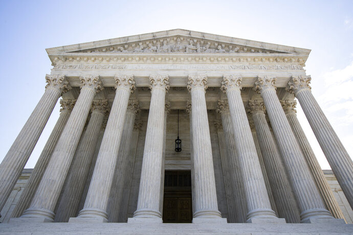 The U.S. Supreme Court is seen Tuesday, June 30, 2020 in Washington. (AP Photo/Manuel Balce Ceneta)