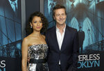 Gugu Mbatha-Raw, left, and Edward Norton attend the LA Premiere of