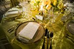 A table is set during a media preview for the State Dinner with President Donald Trump and Australian Prime Minister Scott Morrison in the Rose Garden of the White House, Thursday, Sept. 19, 2019, in Washington. (AP Photo/Alex Brandon)