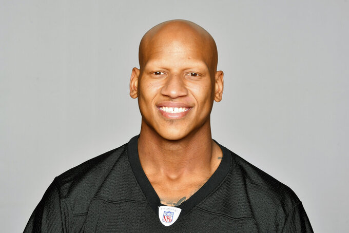 FILE - This is a 2019 file photo showing photo of Ryan Shazier of the Pittsburgh Steelers NFL football team. Pittsburgh Steelers linebacker Ryan Shazier announced his retirement on Wednesday, Sept. 9, 2020, nearly three years after a severe spinal injury forced the two-time Pro Bowler to put his career on hold. The 28-year-old said in a social media post that while he still loves the game, it is time to get on to the next chapter in his life. (AP Photo/File)